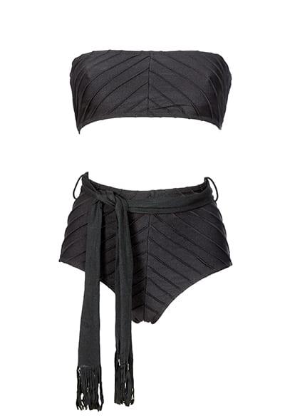 Noir high bikini